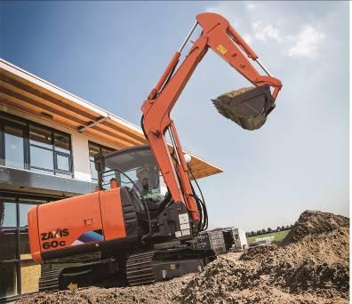 【新品】日立建机在华发售限量版土木专用机ZX60C-5A挖掘机