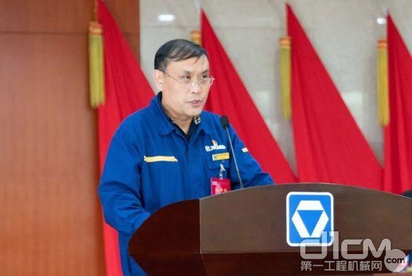 事业部副总经理张雷作财务工作报告