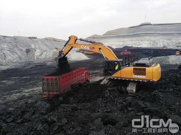 矿山智能化?凯斯CX490C挖掘机有搞头!